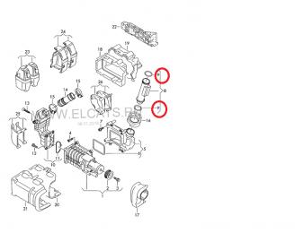 Кольцо уплотнительно на компрессор Тигуан втулка
