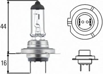 Лампа H7 12V 55W STANDART ближний
