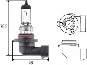 Лампа HB4 12V P22d туманки